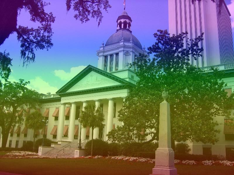 Florida Capitol Rainbow